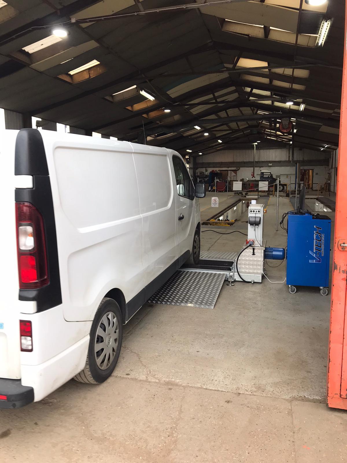 bm mobile brake test on van